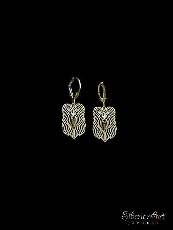 Pyrenean Shepherd - Gold earrings