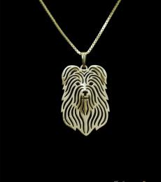Pyrenean Shepherd - Gold pendant and necklace